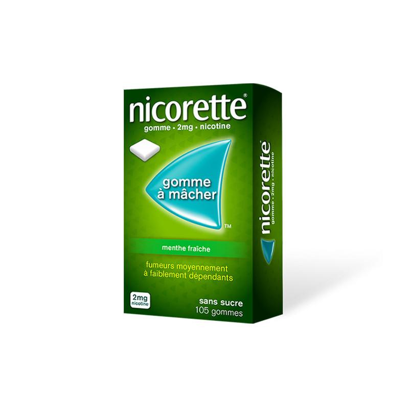 Nicorette 2 mg Menthe Fraîche 105 gommes