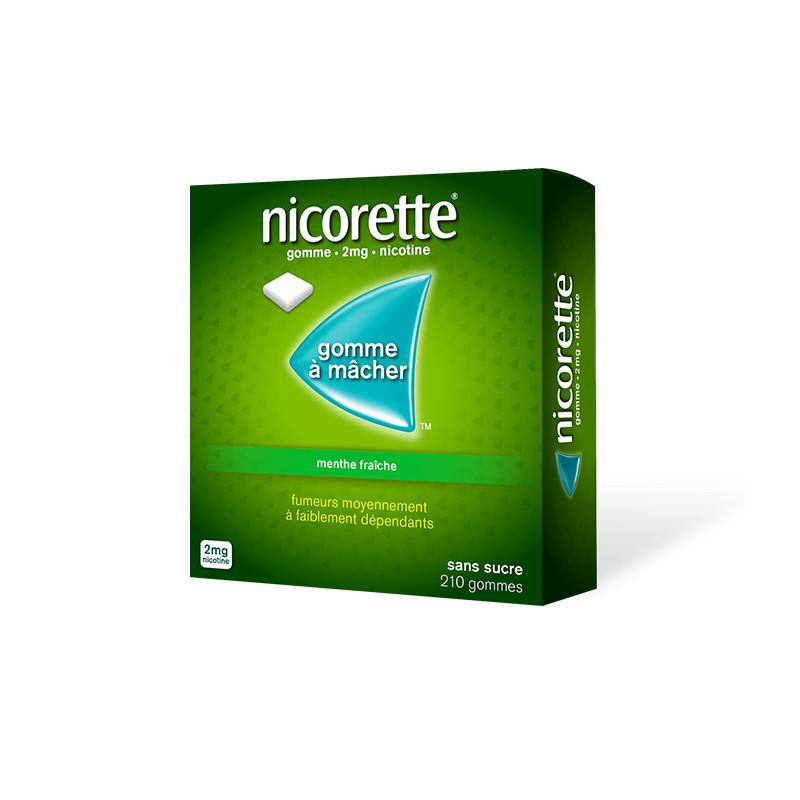 Nicorette 2mg Menthe Fraîche Sans Sucres 210 gommes