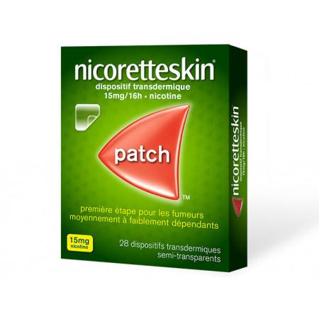 Nicoretteskin 15mg/16h 28 patchs transdermiques