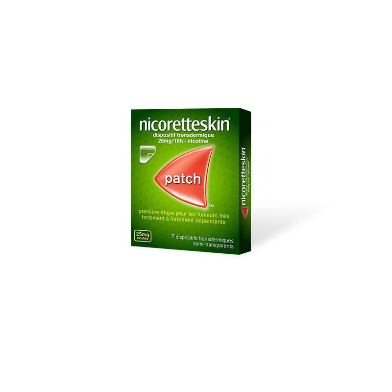 Nicoretteskin 25mg/16h 7 patchs transdermiques