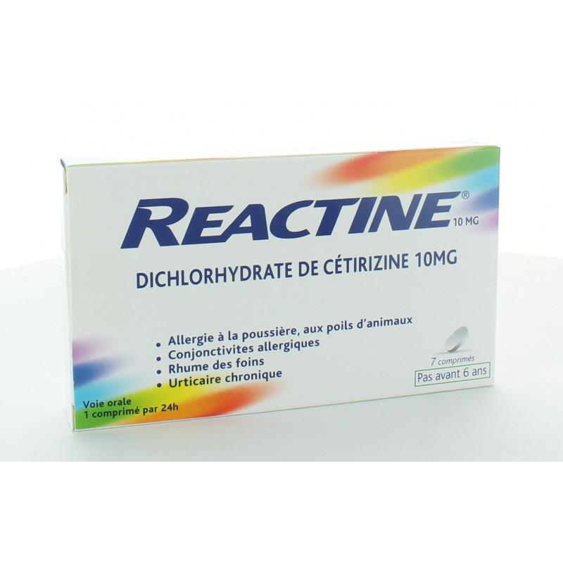 Reactine Allergie 10mg 7 comprilmés