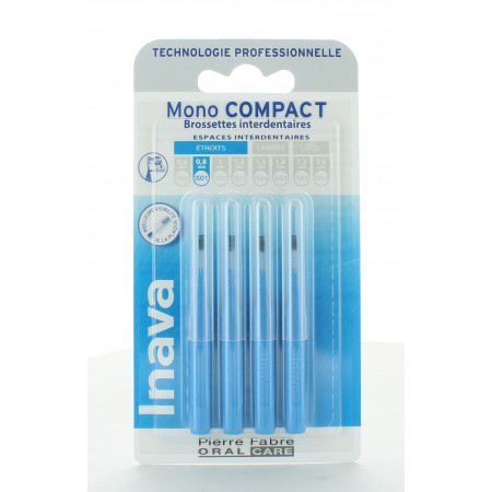 Inava Mono Compact Brossettes Interdentaires 0,8mm X4