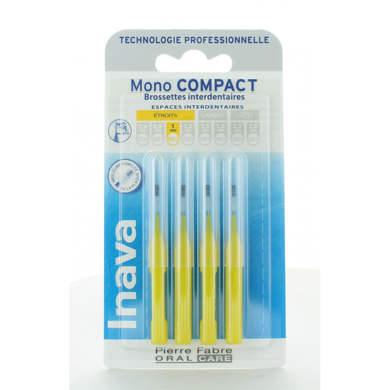 Inava Mono Compact Brossettes Interdentaires 1mm X4
