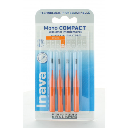 Inava Mono Compact Brossettes Interdentaires 1,2mm X4