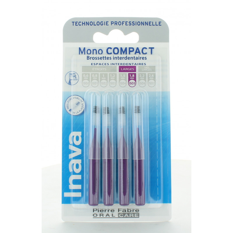 Inava Mono Compact Brossettes Interdentaires 1,8mm X4