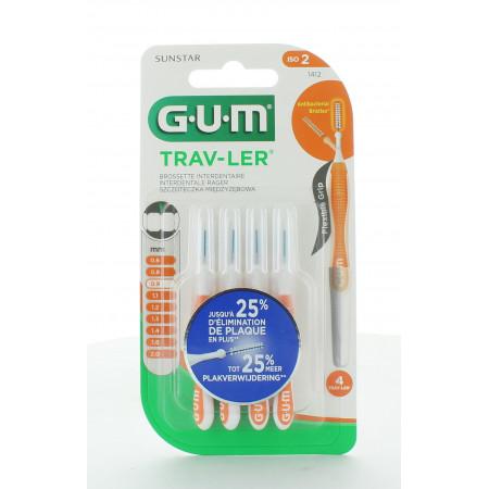 GUM Trav-Ler 1412 Brossettes Interdentaires 0,9mm X4