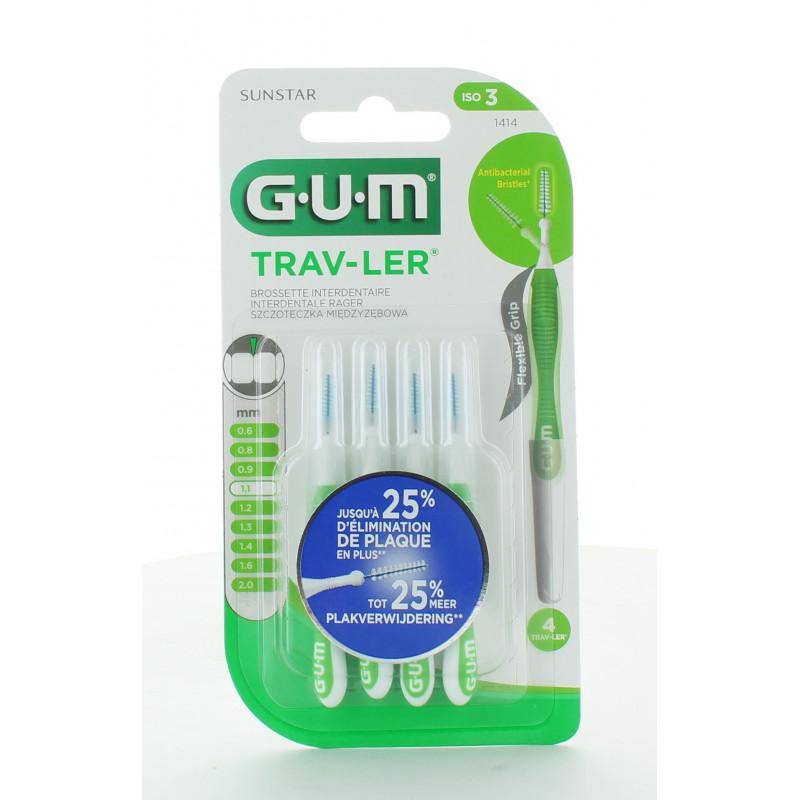 GUM Trav-Ler 1414 Brossettes Interdentaires 1,1mm X4