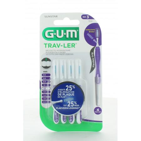 GUM Trav-Ler 1512 Brossettes Interdentaires 1,2mm X4