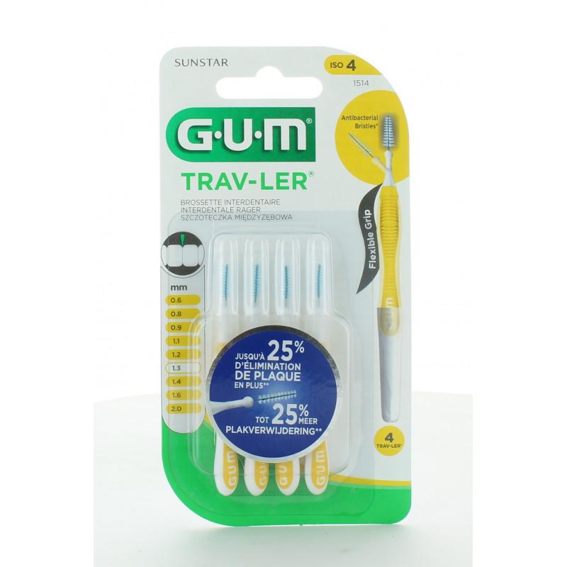 GUM Trav-Ler 1514 Brossettes Interdentaires 1,3mm X4