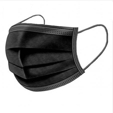 Masques Chirurgicaux Noirs 50 pièces