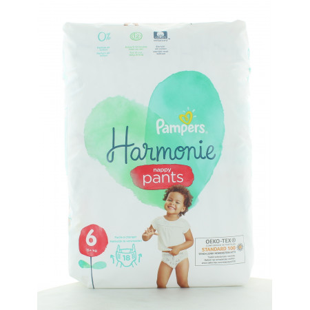 Pampers Harmonie Nappy Pants Taille 6 X18