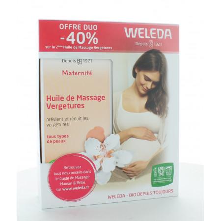 Weleda Maternité Huile de Massage Vergetures 2X100ml
