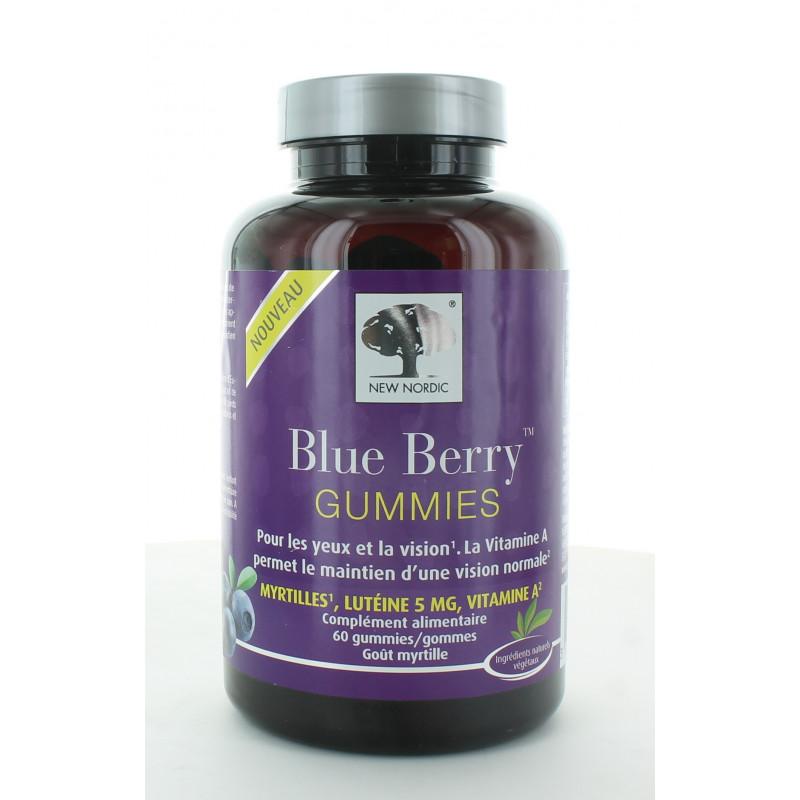 New Nordic Blue Berry Gummies X60