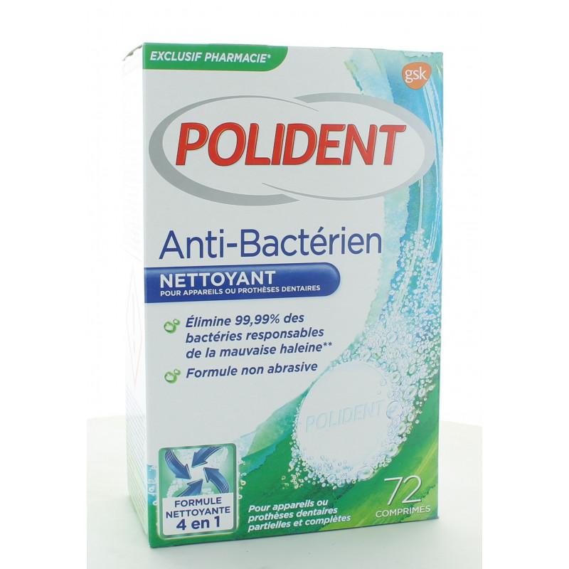Polident Anti-bactérien Nettoyant pour Appareils Dentaires 72 comprimés