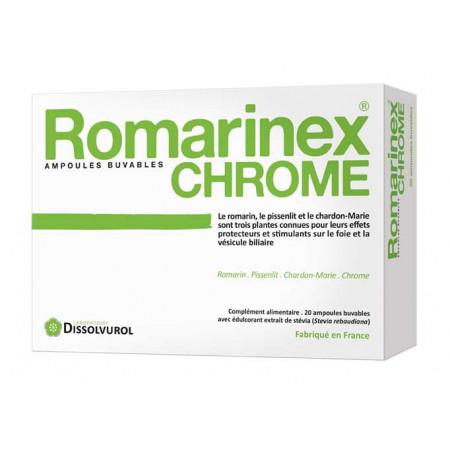 Dissolvurol Romarinex Chrome 20 ampoules