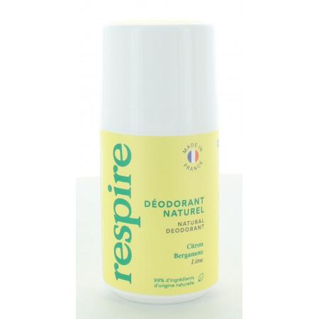 Respire Déodorant Naturel Citron Bergamote 50ml