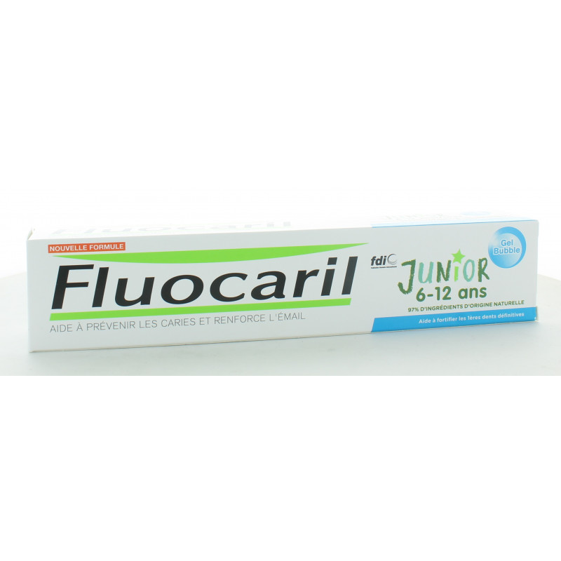 Dentifrice Fluocaril Junior 6-12 ans Gel Bubble 75ml
