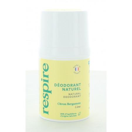 Respire Déodorant Naturel Citron Bergamote 15 ml
