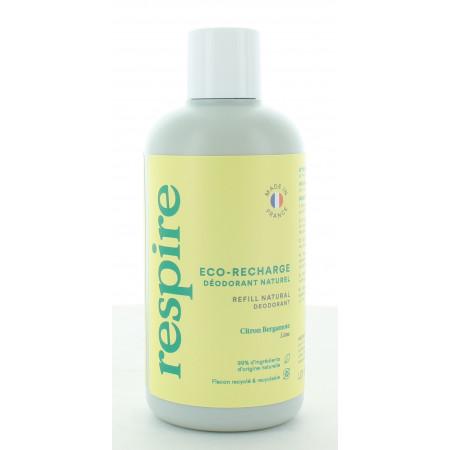 Respire Éco-recharge Déodorant Naturel Citron Bergamote 150 ml
