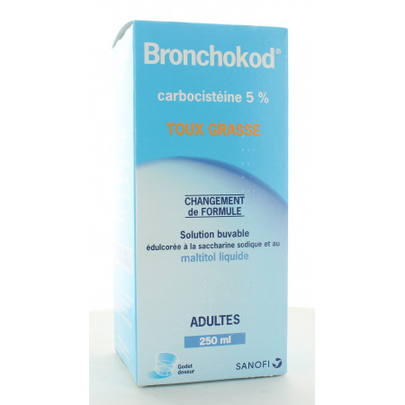 Bronchokod Carbocistéine 5% Toux Grasse 250ml