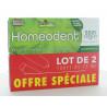 Dentifrice Homéodent Soin Complet Dents et Gencives Chlorophylle 2x75 ml