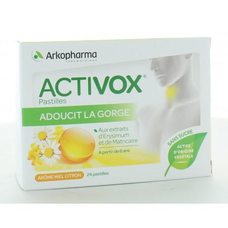 Arkopharma Activox Miel Citron 24 pastilles