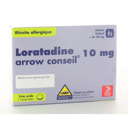 Loratadine Arrow Conseil 10mg 7 comprimés