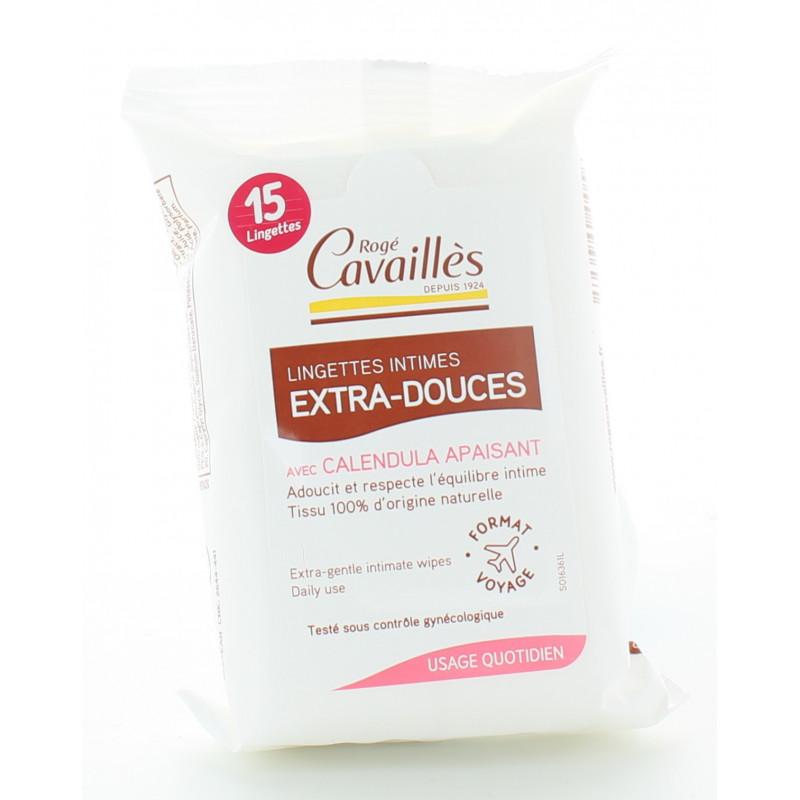 Rogé Cavailles Lingettes Intimes Extra-douces X15