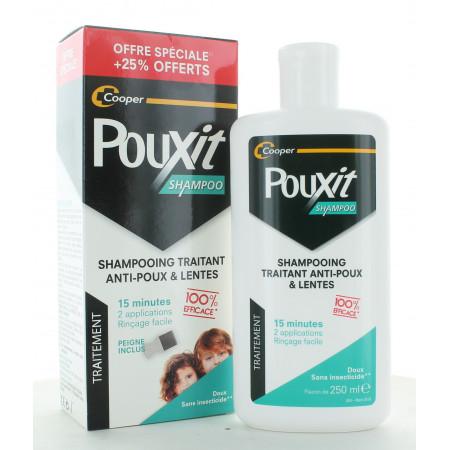 Pouxit Shampoo Traitant Anti-poux & Lentes + Peigne 250ml