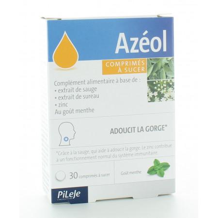 PiLeJe Azéol Comprimés à Sucer Menthe X30