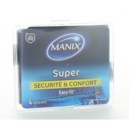 Manix Préservatifs Super Sécurité & Confort X4
