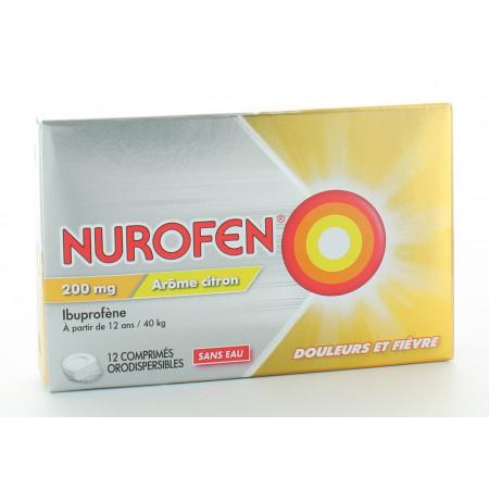Nurofen Ibuprofène 200mg Arôme Citron 12 comprimés