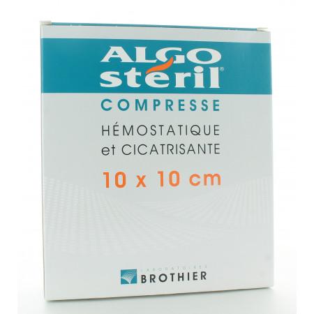 Algostéril Compresse Hémostatique et Cicatrisante 10X10cm 16 Pièces