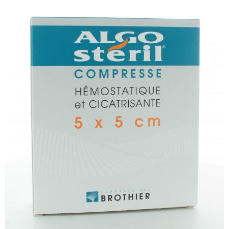 Algostéril Compresse Hémostatique et Cicatrisante 5X5cm 10 pièces