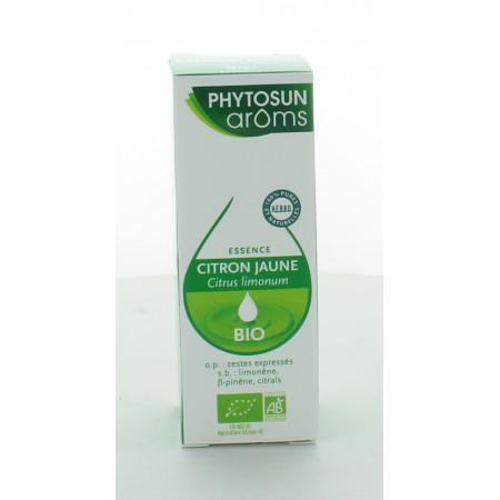 Phytosun Huile Essentielle Bio Citron Jaune 10 ml