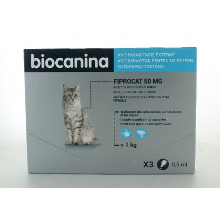 Biocanina Fiprocat 50mg X3