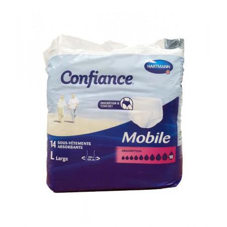 Confiance Mobile Taille L Niveau 10 14 sous-vêtements absorbants