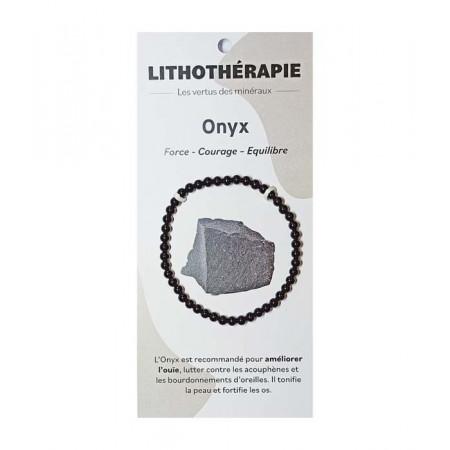 Gem'Strasbourg Onyx Noir Bracelet 4mm