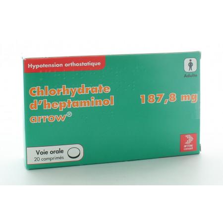 Chlorydrate d'Heptaminol 187,8mg 20 comprimés