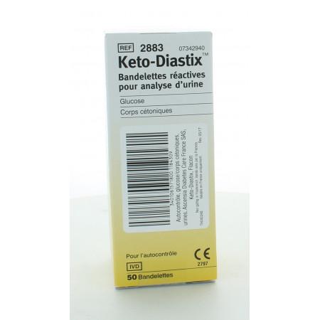 Keto-Diastix Bandelettes Réactives pour Analyse d'Urine X50