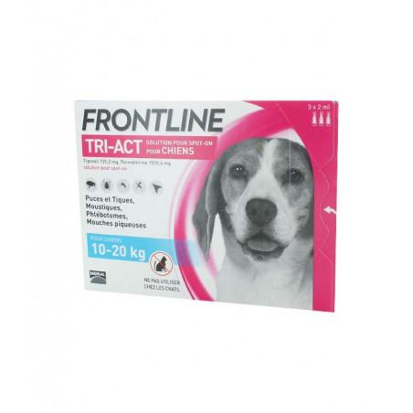 Frontline Tri-Act Chiens 10 -20 kg 3 X 2ml