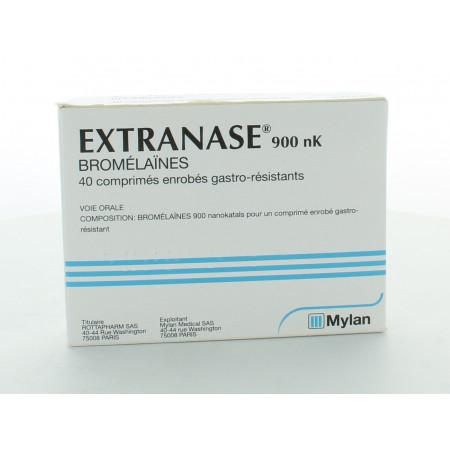 Extranase 900nK Bromélaines 40 comprimés