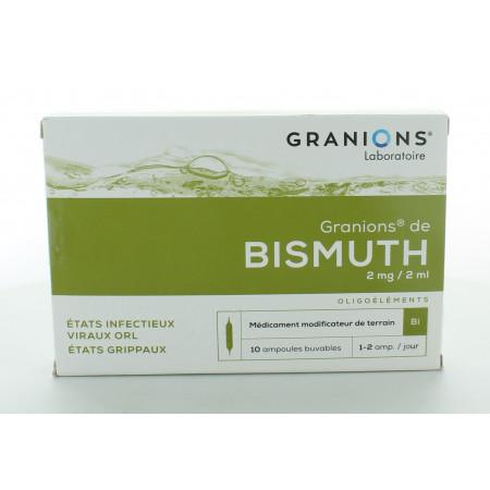 Granions de Bismuth 2mg/2ml 10 Ampoules