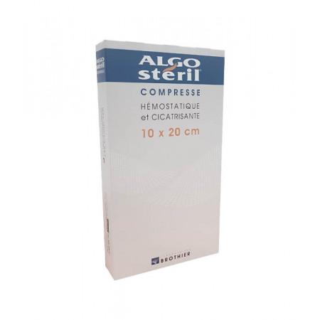 Algostéril Compresse Hémostatique et Cicatrisante 10X20cm 16 pièces