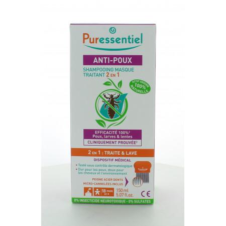 Puressentiel Anti-Poux Shampooing Masque Traitant 2 en 1