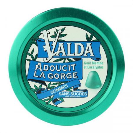 Valda Gommes Menthe Eucalyptus Sans Sucre X50
