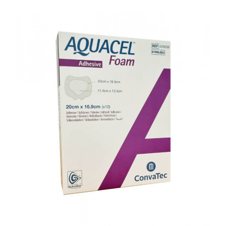 Aquacel Foam Adhesive Sacrum 20X16,9cm 10 pièces