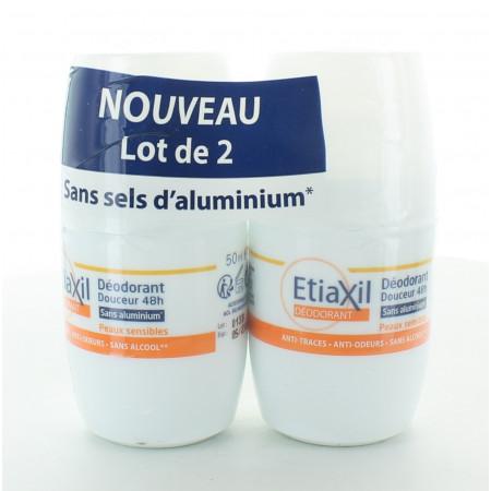 Etiaxil Déodorant Douceur 48h 2X50ml