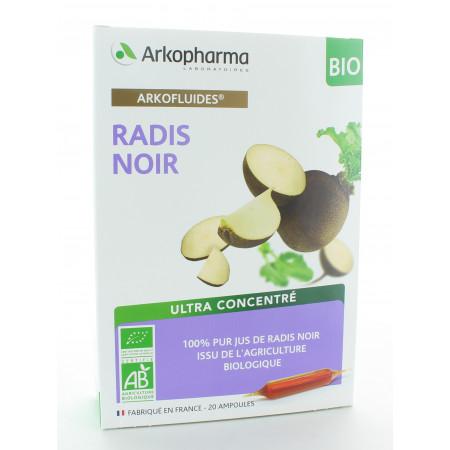 Arkopharma Arkofluides Radis Noir Bio 20 ampoules