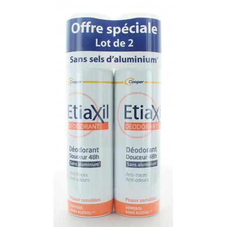 Etiaxil Déodorant Douceur 48h 2X150ml